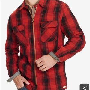 Men's WEATHERPROOF Plaid Full-zip jacket Lg